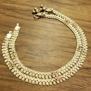 Jewelry - 100% pure silver / chandi Indian anklets / payal